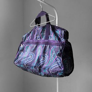 LESPORTSAC purple paisley xl weekender duffle bag